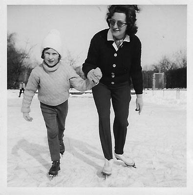 Schlittschuhlaufen im Winter.
