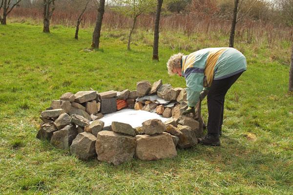Erster Abschnitt: Steinkranz für das Eidechsenrevier