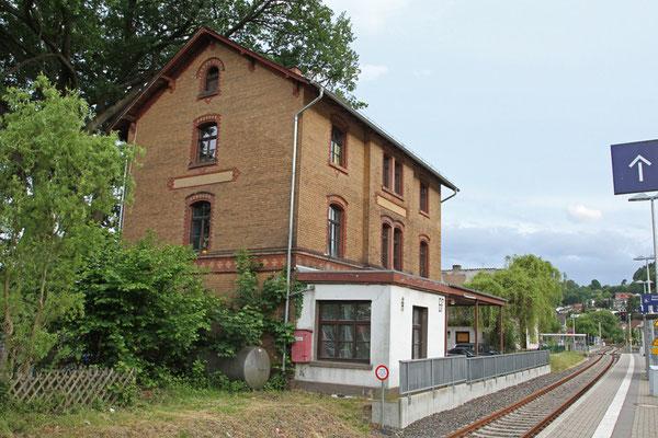 Nordseite des Bahnhofgebäudes