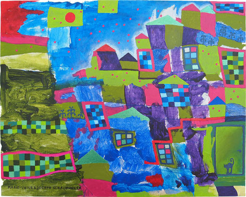 Großstadtdunkelbunt - Symbiosemalerei mit Joseph Schachinger
