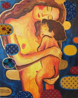 Mutter und Kind - Hommage an Klimt