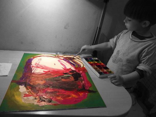 Joseph beim Malen