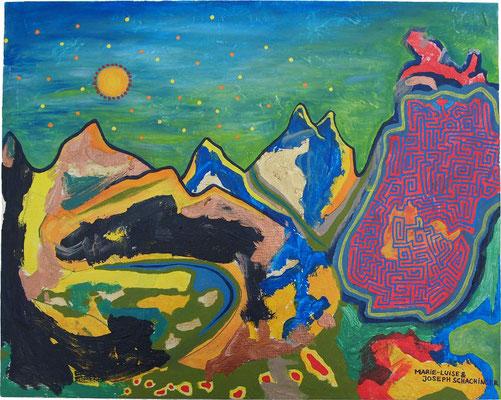 Das Geheimnis des Berges - Symbiosemalerei mit Joseph Schachinger