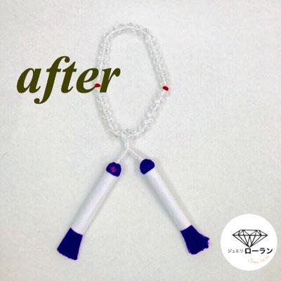 念珠・数珠の房替え after
