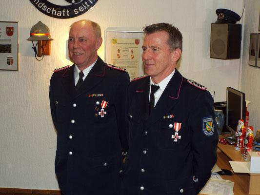 Die geehrten Kameraden für 25 Jahre Feuerwehrdienst