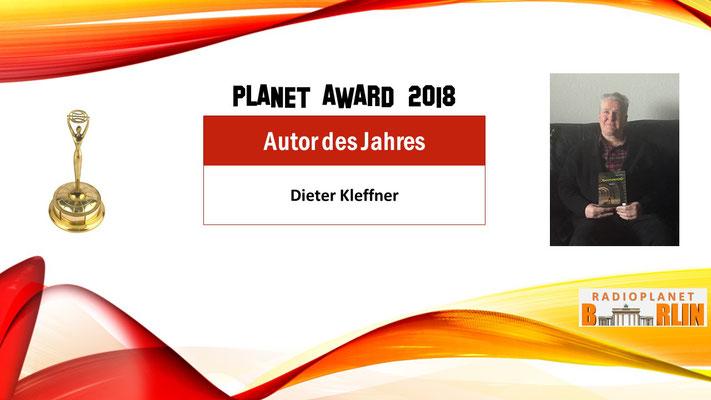 """Urkunde """"Autor des Jahres – Dieter Kleffner"""""""