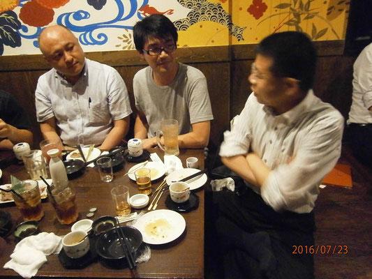ここでもやっぱり将棋の話。塩尻支部小林先生と土屋先生。