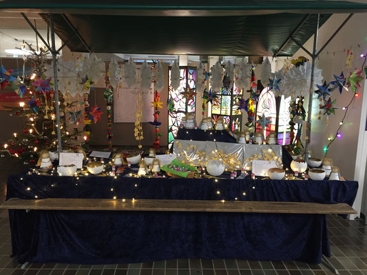 Kurz vor der Eröffnung des Adventsmarkts
