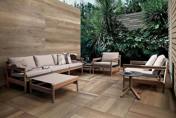 Kronos Wood Oak 60x60cm (floor) Wood Side Oak 26x180cm, Wood Side Kauri 28x120cm chalet (wall)