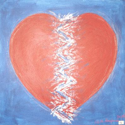 Gebrochenes Herz, 50x50, Acryl auf Leinwand