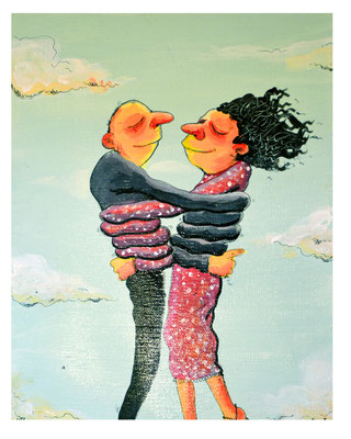 """""""Le love trop love"""" Vendu - Acrylique"""