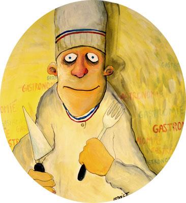 """Le chef"" - Acrylique"