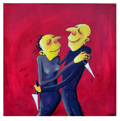 """Le secret de l'amour"" 300 euros - Acrylique 60x60cm"