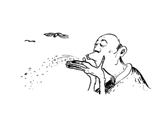 """""""Marchand de sable, je postillonne sur vos paupières."""" 2014"""