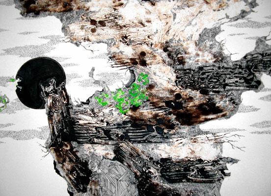 Tree 2004年 油絵具、インク、紙 39cm×54.5cm