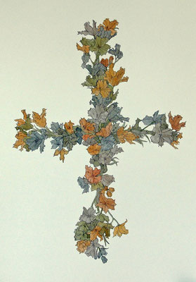 祈り 2006年 紙、インク 36.3cm×25.7cm