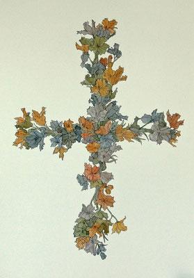 祈り 2006年 インク、紙 36.3cm×25.7cm