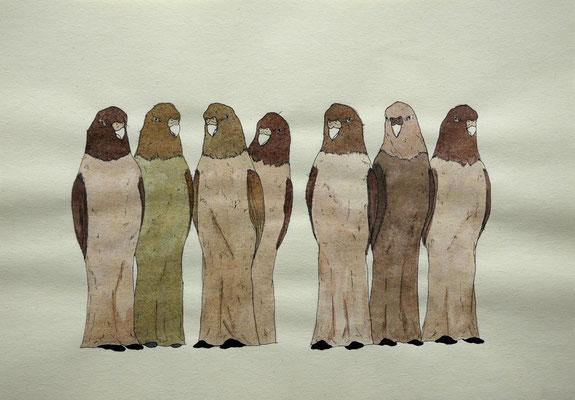 秘密結社 2006年 インク、紙 25.7cm×36.4cm