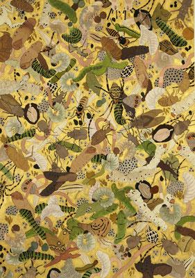 金の葛籠 2007年 インク、顔彩、紙 36.3cm×25.6cm