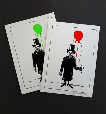 SENSIMANN // zweifarbiger Siebdruck, 300g Karton cremeweiß, 13 x 18 cm, limitiert auf 15 Stück je Farbe, nummeriert und handsigniert // 9 €