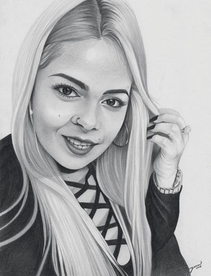 Custom Drawings | Copyrights © ART GOD & LOVE INC - Drawing by Dayron Villaverde