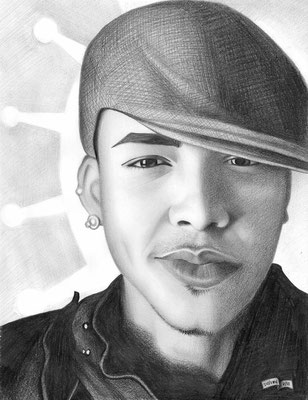 Prince Royce | Custom Drawings | Copyrights © ART GOD & LOVE INC - Drawing by Dayron Villaverde