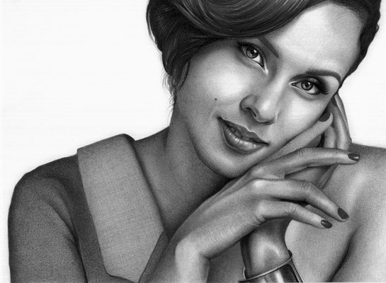 Alicia Keys | Copyrights © ART GOD & LOVE INC - Drawing by Dayron Villaverde