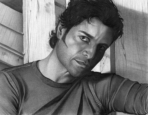 Chayanne | Self Portraits Drawings | Copyrights © ART GOD & LOVE INC - Drawing by Dayron Villaverde