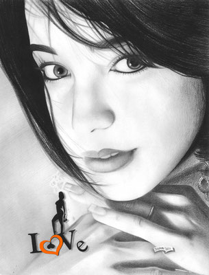 Portraits Drawings | Copyrights © ART GOD & LOVE INC - Drawing by Dayron Villaverde