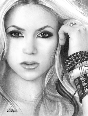 Shakira | Custom Drawings | Copyrights © ART GOD & LOVE INC - Drawing by Dayron Villaverde