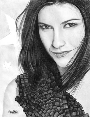 Laura Pausini | Copyrights © ART GOD & LOVE INC - Drawing by Dayron Villaverde