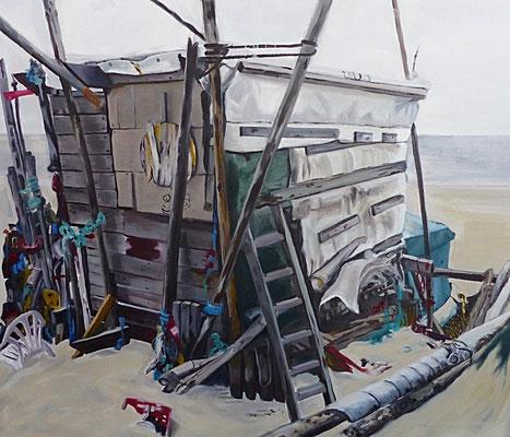 Strandhaus  2014  120 x 100 cm Öl/Leinwand
