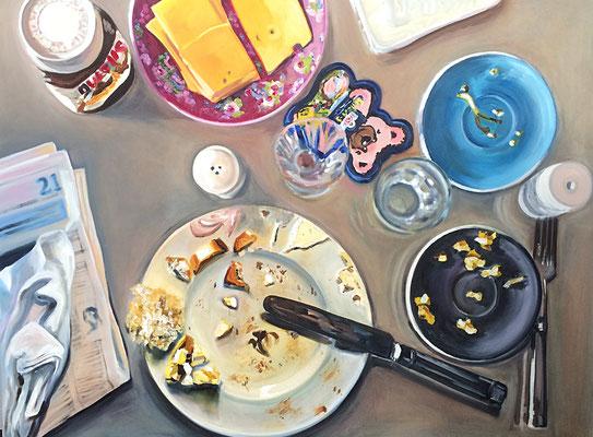 Frühstück mit Lisa  2014  160 x 120 cm  Öl/Leinwand