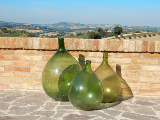 Oude wijnflessen