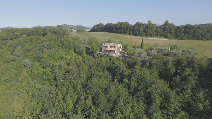 Casa Castagno, privacy en rondom uitzicht.