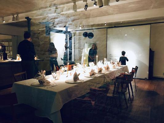 Weihnachtsfeier von Culturebridge Architects im Weinhaus Moser