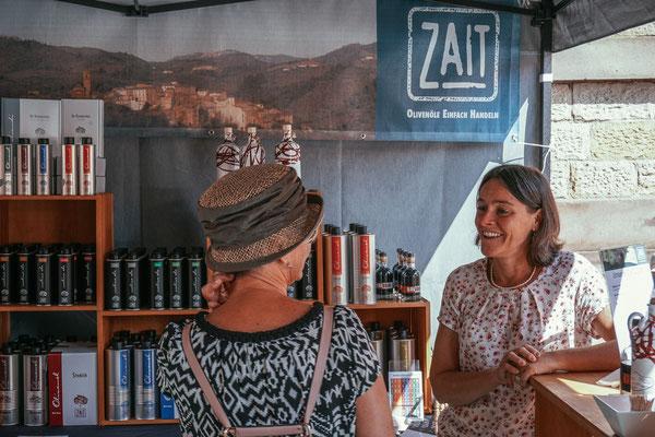 Markstand von ZAIT Olivenöl