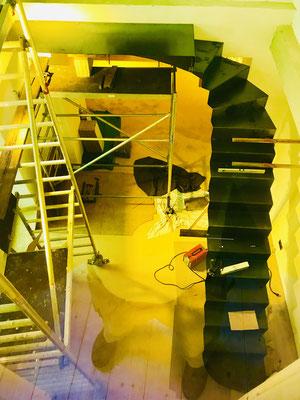 Treppe mit 100% Spaßfaktor im Weinhaus Moser