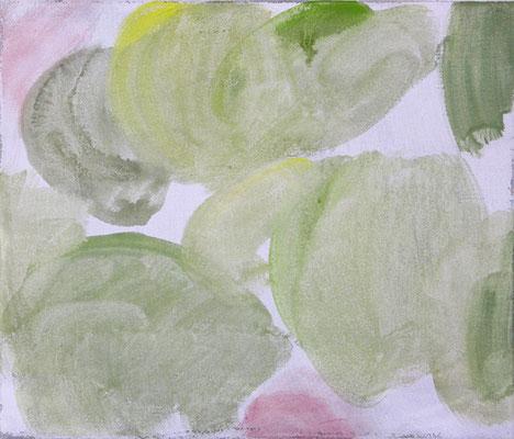 Birnen und Anemonen | 2009, Eitempera auf Leinwand, 47 x 55 cm