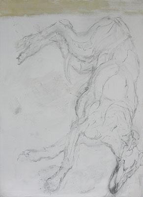 Freuds Eli | 2019, Eitempera, Kohle auf Leinwand, 116 x 85 cm