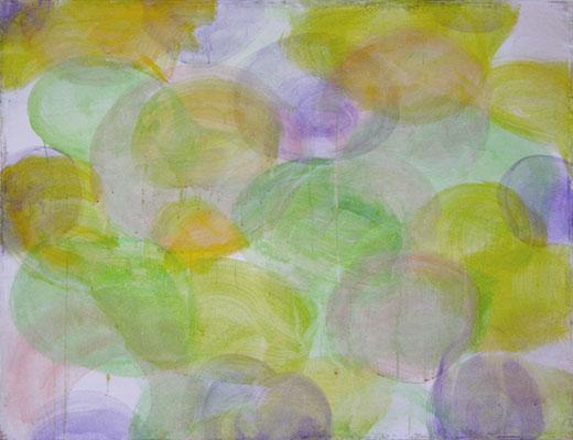 Wiese mit Akeleien | 2006/07, Eitempera, Tusche auf Leinwand, 93 x 124 cm