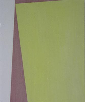 Studie mit 2 Flächen (Klein, gelb) 1 | 2013,  Eitempera auf Holz, 28 x 23,5 cm