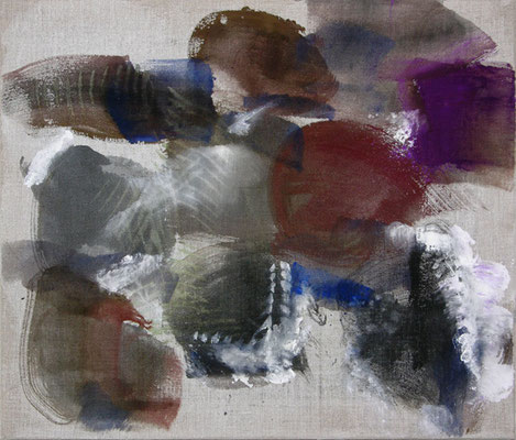 Braune Birnen | 2009, Eitempera auf Leinwand, 47 x 55 cm
