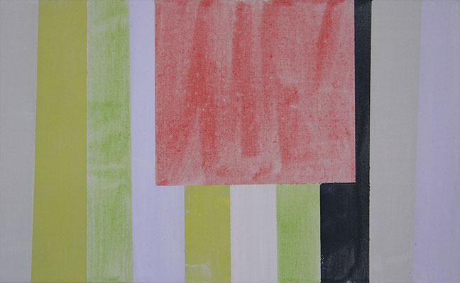 Raum perzeptiv 3 (Frühling Studie 1) | 2015, Eitempera auf Leinwand, 39 x 63 cm