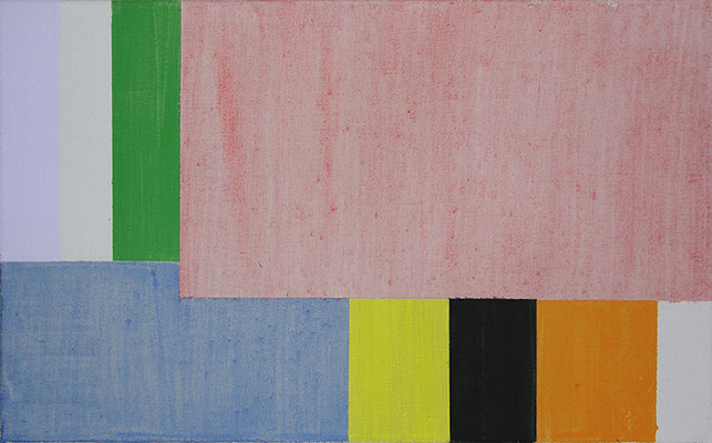 Raum perzeptiv 4 (Frühling Studie 1) | 2015, Eitempera auf Leinwand, 39 x 63 cm