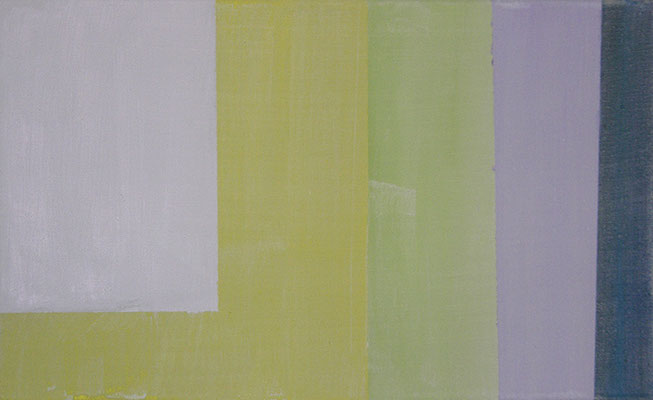 Raum perzeptiv 1 (Frühling Studie) | 2015, Eitempera auf Leinwand, 39 x 63 cm