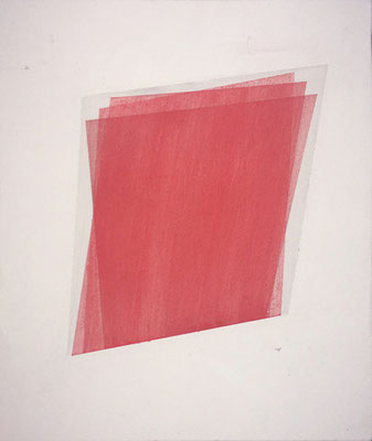 Raum//Bild Baryt(form) 2  | 2017,  Eitempera, Tusche auf MDF, 33 x 28 cm