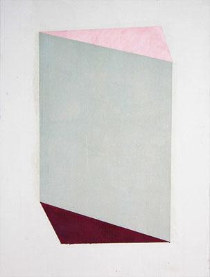 Raum//Bild Kristall | 2014,  Eitempera, Tusche auf Holz, 46 x 35 cm