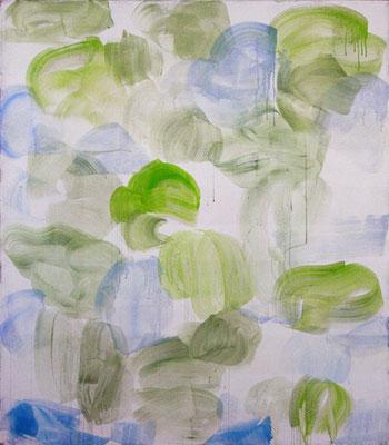 Die Birken | 2010, Eitempera auf Leinwand, 252 x 221 cm