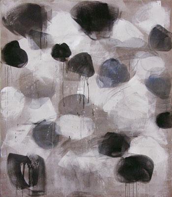 Die Birken / Schatten | 2010, Eitempera auf Leinwand, 237 x 204 cm